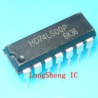 10 PCS HD74LS00P DIP-14 74LS00 QUADRUPLE 2-INPUT POSITIVE-NAND GATES new