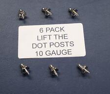 6 Pack LIFT THE DOT SINGLE POST 10 GAUGE (UTE TONNEAU TARP CLIP) (TNSAC22)