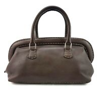 Vintage Fendi Selleria Brown Purse Doctor Handbag Made In Italy