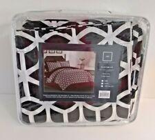 Chic Home Elizabeth Duvet Cover Set (3 Piece) King Black& White New
