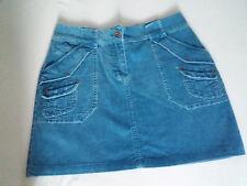 blue/grey cord mini skirt h&m size 12