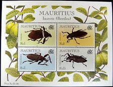 INSECT STAMPS SHEET OF 4 BEETLES 2000 MNH MAURITIUS BUGS INSECTS INSECT