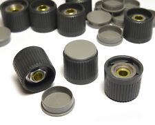 10x Philips Spannzangen-Knopf für Meßgeräte, 6 mm Achse, 24 mm  Durchmesser, NOS
