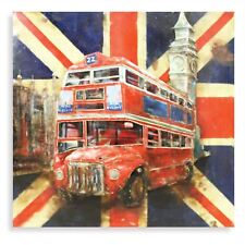 PRIDE OF LONDON Wall Art British Bus Iron Picture Home/Shop Decoration Painting