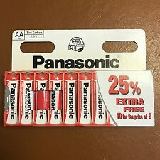 10 X AA Pilas Panasonic Zinc Carbono GENUINO-nuevo vencimiento de R6 1.5V 11/2019