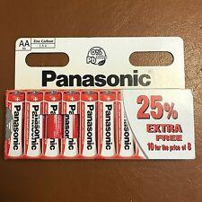 10 x AA Genuine PANASONIC Zinc Carbon Batteries - New R6 1.5V Expiry 2021