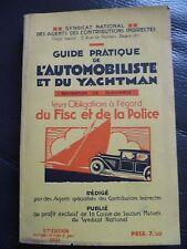 CARNET GUIDE PRATIQUE DE L'AUTOMOBILISTE ET YACHTMAN 1931 NAVIGATION PLAISANCE