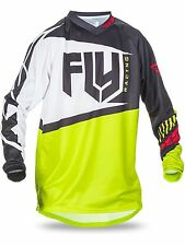 MAGLIA CROSS OFF ROAD ENDURO FLY RACING  F-16 NERO LIME TAGLIA M