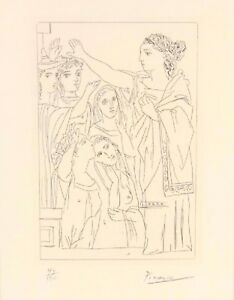 1934 Pablo Picasso Etching SERMENT DES FEMMES (FROM 'LYSISTRATA') 43/100