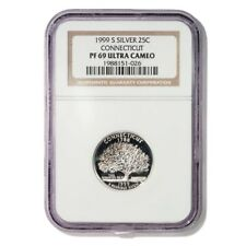 USA Connecticut State Quarter 1999 S Silver Proof NGC PF 69 Ultra Cameo