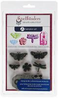 Hampton Art Cling and Die Pink Diffusion Butterflies Rubber Stamp