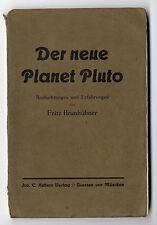 Astrologie Sternzeichen Esoterik Weltraum Planet Pluto Entdeckung Buch 1935