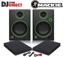 "MACKIE CR4 4"" Active Reference DJ Studio Monitor Speakers Pair With PADS + LEADS"