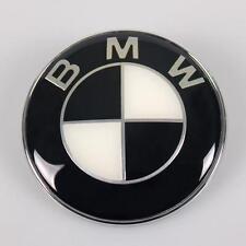 74mm Negro/Blanco Sombrero Insignia Emblema de arranque se ajusta BMW - 1 3 5 6 7 X Z