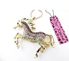 Betsey Johnson Necklace Horse Ombré Gold Mare Horse Crystals