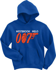 "Russell Westbrook Carmelo Anthony Thunder ""007"" Jersey shirt Hooded Sweatshirt"