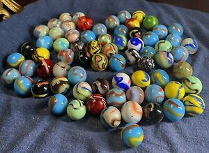 Gorgeous Vacor/Mega Lot Of Multicolored Marbles!!!
