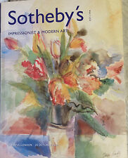 Sotheby's Impressionist & Modern Art Incl. Ceramics by Picasso 10-24-2001 London