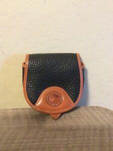 Vintage Dooney & Bourke A W L Mini Crossbody/Belt Bag Black - Mint!