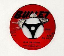 "BOSS REGGAE 1970 ~ REGGAE BOYS - Give me faith / Pupa live on top ~ 7"" 45rpm"