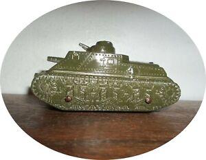 D129~NICE 1950's  U S  Army 2 Cannon Tank ~ TOOTSIETOY / BARCLAY