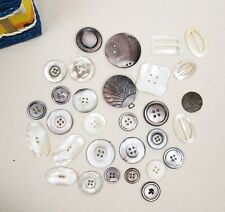 vintage antique mother of pearl buttons & buckles selection