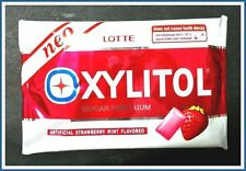 LOTTE XYLITOL SUGAR FREE GUM ARTIFICIAL STRAWBERRY MINT FLAVORED