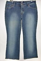 Angels Jeans Flare Boot Cut Bell Bottom Womens Stretch Sz 17 Meas. 34x33