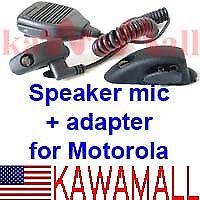 Speaker mic + adapter Motorola Ht750 Ht1250 Mhtsp