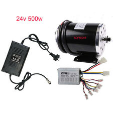 24V 500W ELECTRIC MOTOR SPEED CONTROLLER Charger SCOOTER BRUSH BIKE BICYCLE