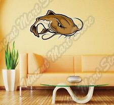 "Catfish Fish Fishing Fisherman Cartoon Wall Sticker Room Interior Decor 25""X18"""