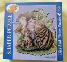 750 piece shaped jigsaw puzzle by Bits and Pieces:Maggie and Kittens