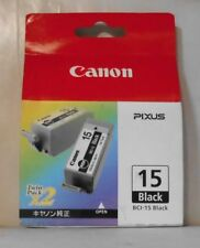 Canon BCI-15  Tinte black  für 50i 80i iP90 iP90v 8190A002 Twin Pack