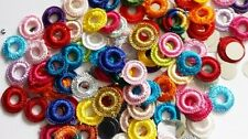 50 Crochet Mirror-RIMS Multi Mix with Foil Mirrors 2 Sew or Glue 4 Card Craft
