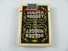 Vintage 1970's BLACK Golden Nugget Playing Cards SEALED and CELLOPHANE wrapped