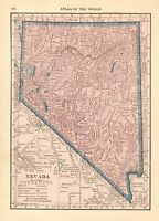 1926 Antique NEVADA State Map Original Vintage Map of Nevada smap 7774