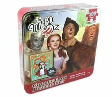 The Wizard of Oz 2 Foil & Poster Puzzles Collectors Set Tin Box, NEW Puzzle