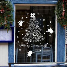 Christmas Tree Wall Stickers Store Window Decal Mural Vinyl Home Glass Decor