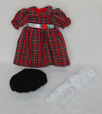 "Madeline 8"" Doll Plaid Holiday Best Dress Set Clothing Euc!"