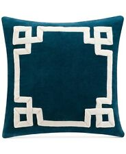 "Savannah Home 16"" Square Decorative Pillow Darjeeling INDIGO BLUE J9X002"