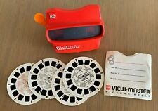 VIEWMASTER 3D VIEWER, TYCO USA, 1960's WITH 3 REELS ON PREHISTORIC ANIMALS