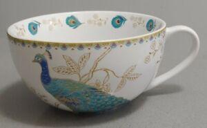 222 Fifth Peacock Garden Jumbo Oversized Coffee Tea Cup Mug Fine China