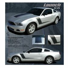 Ford Mustang 2010-2012 Launch Side Graphic Kit - Matte Black