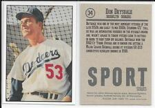 DON DRYSDALE (Los Angeles Dodgers) 2016 Golden Age Card Co. #34 ACEO/CUSTOM CARD