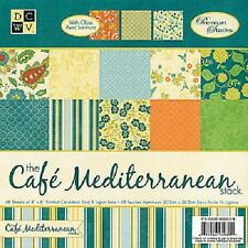 """DCWV Paper stack 8""""x 8"""" CAFE MEDITERRANEAN 48 sheets"""