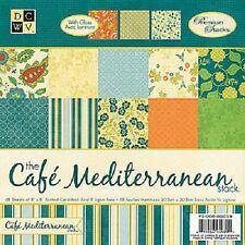 """DCWV pila de papel 48 Hojas 8""""x 8"""" Cafe Mediterráneo"""