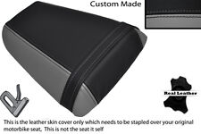 GREY & BLACK CUSTOM FITS HONDA CBR 600 F 01-03 REAR LEATHER SEAT COVER ONLY