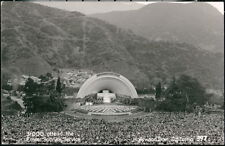 HOLLYWOOD BOWL CA Easter Sunrise Service Crowd Vintage RPPC Postcard Old Photo