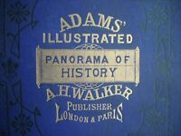 RARE ORIGINAL ADAMS  ILLUS PANORAMA OF HISTORY PUB. WALKER LONDON 1878 REVISED