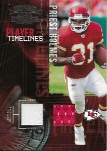 2005 Donruss Throwback Threads - Priest Holmes Dual Game Jersey - PT-20 195/250